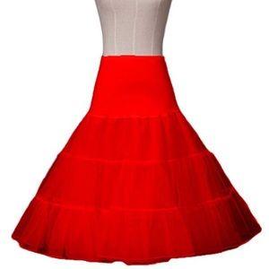 Costume Red Tulle Tutu Petticoat Underskirt